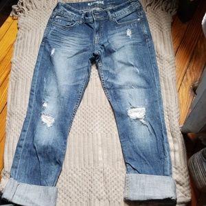 Women's Express Distressed Boyfriend Jeans Sz 4